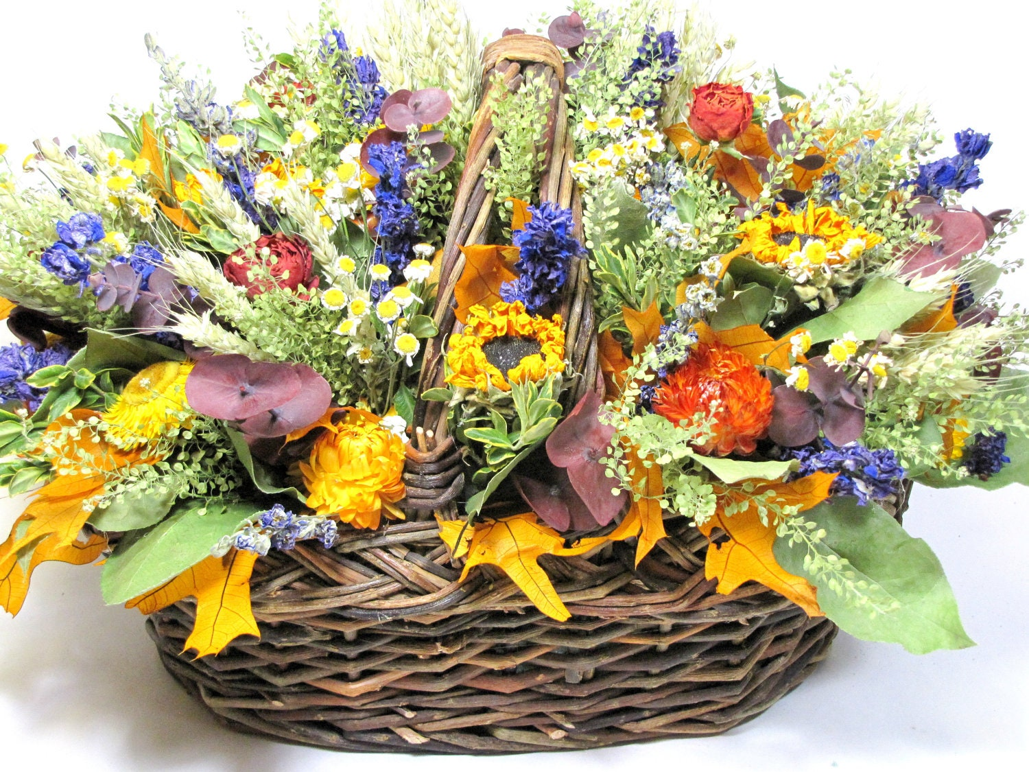 Fall Floral Arrangement Dried Flower Arrangement Autumn