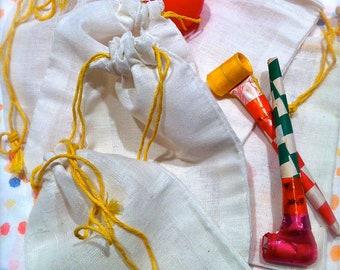 Muslin Drawstring Favor Bags 1 Dozen