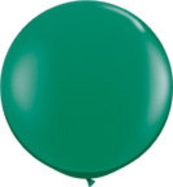 3 Foot Round Designer Balloon Green w/Tassel