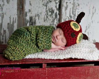 Little hungry caterpillar newborn cocoon set