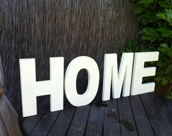 Set of 4 - Hand-painted Freestanding Letters, HOME - Photo Props - 15cm