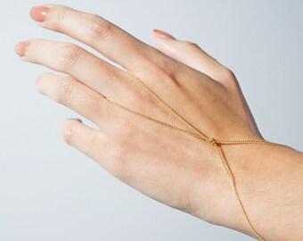 Gold Infinity Hand Chain