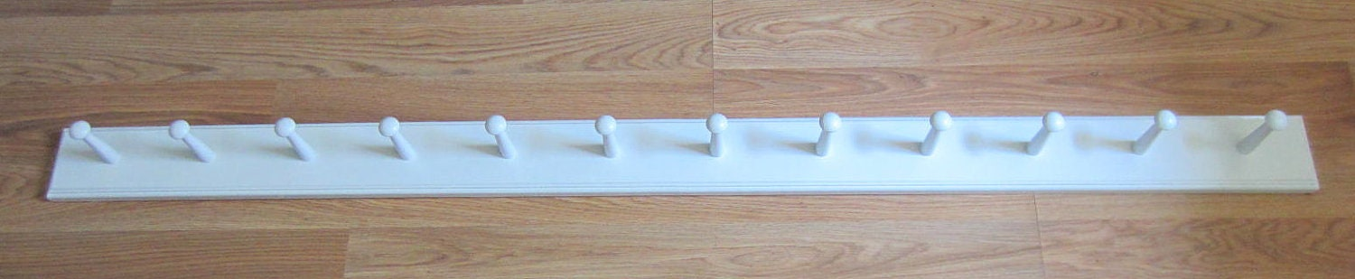 Wall Mounted Coat Rack Shaker Peg Rail
