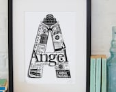 Best of Angel limited edition screenprint // London Letters series