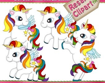 Little Pony Rainbow Pegasus Clipart (Digital Download)