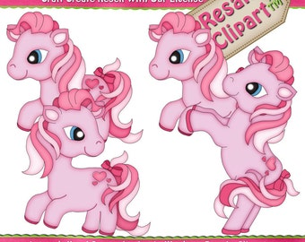 Little Pony - PINK Clipart (Digital Download)