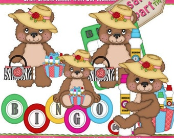 Bingo Bears Clipart 2 (Digital Download)