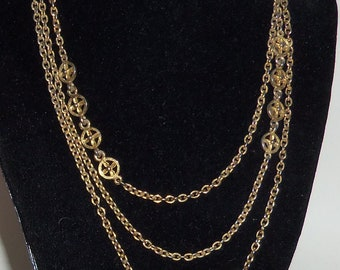 Necklace,Goldtone Chain