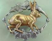 Gorgeous French Hare Brooch