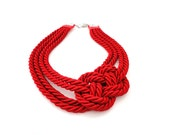 Red Nautical Statement Necklace