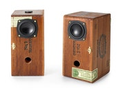 Upcycled Cigar Box Speaker Pair