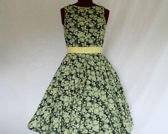 Mint Chocolate Chip Custom Made Swing Dress
