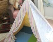 Unisex play tent teepee. Custom order for MrsLadd10