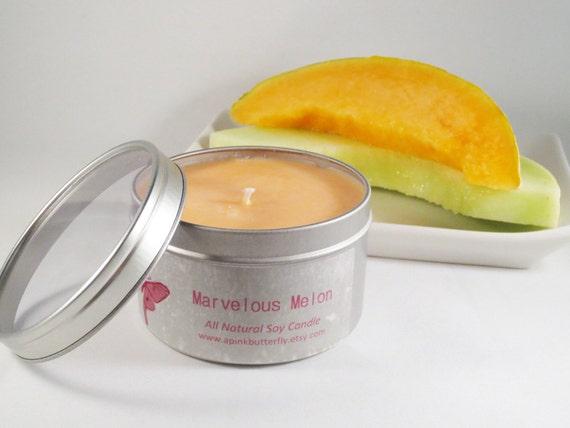 Marvelous Melon Soy Candle --8 oz. tin
