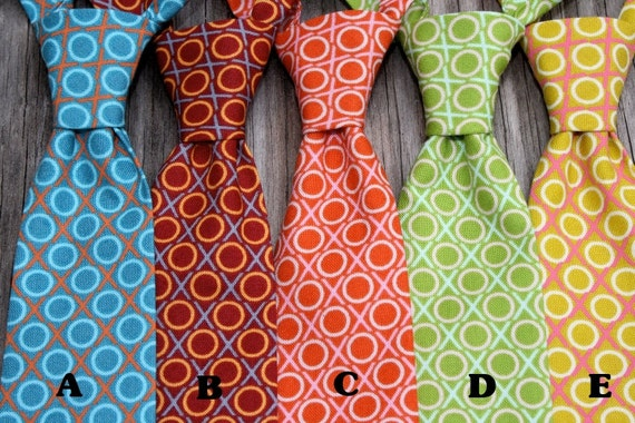 Boys Matching Ties -- Boys Turquoise Tie -- Photography Prop -- Newborn Baby Tie