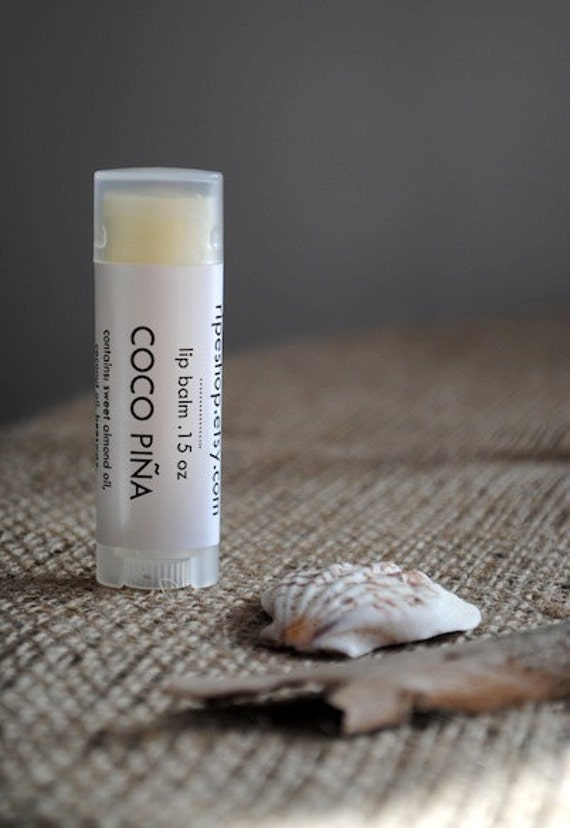 Coco Piña Lip Balm - Sweet Almond Oil, Beeswax, Shea Butter, Piña Colada, Coconut Pineapple