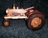 Farmall IH narrow front wooden tractor handcrafted