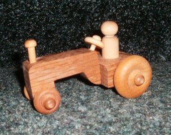 Wooden Tractor Handcrafted