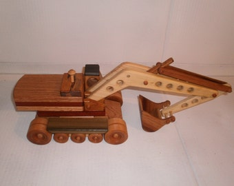 Wooden construction grade excavator handcrafted