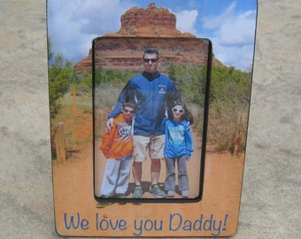 Personalized Father's Day Gift, Mother's Day Picture Frame, Custom Picture Frame, Unique Photo Frame Gift, Unique Christmas Gift