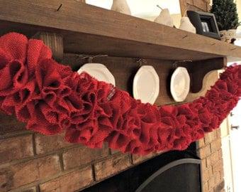 Burlap Garland Choose Your Color of Burlap  Wedding Garland Rustic Home Decor