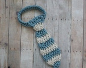 Crochet STRIPED Baby Necktie (adjustable - you choose colors - chart inside) sizes nb-12mos, toddler