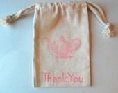 Tea Party Favor Bag / Set of 8 / Teapot Favor Bags