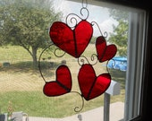 Stained Glass Hearts Suncatcher Valentine Ornament