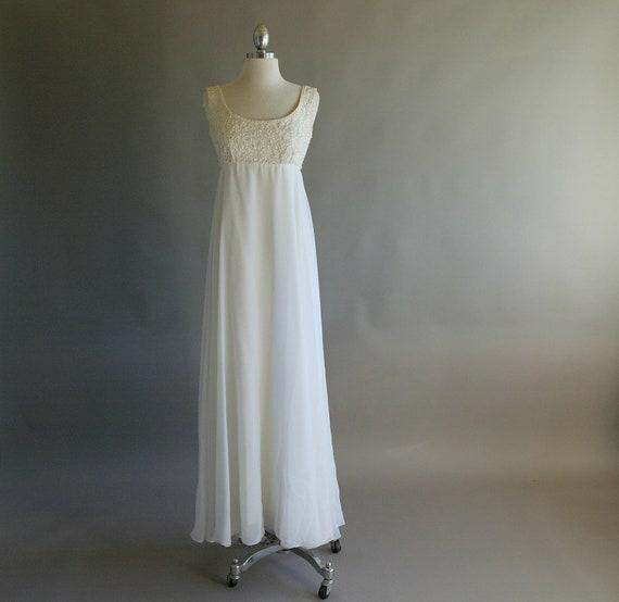 R E S E R V E D // Exquisite Original 60s Empire Waist Wedding Gown