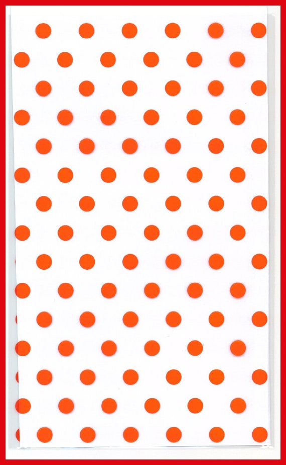CELLO Bags RED Dots 5 x 8 Cellophane Gift Bag 20 Total