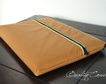 Customizable Laptop for Color fabrics and Size - Laptop cover Laptop sleeve - PADDED - POCKET - WATERPROOF lining - 2 Zippers