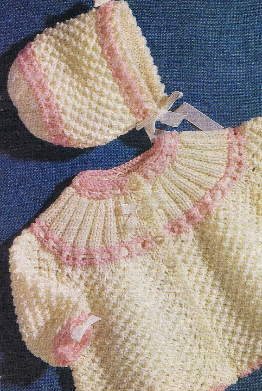 Instant Download 301. Knitted Matinee Jacket and bonnet