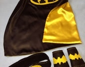 Free Shipping on BUNDLE of 20 SUPERHERO CAPES with Childs Initial, Logo, Masks,Belt & Wristbands for party favors for  Birthday Party Gifts