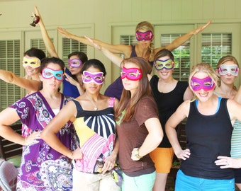 """PARTY Pak of 30 MASKS for Boys AND Girls & for Parents to tranform into the """"Flying Wonder Ladies"""""""