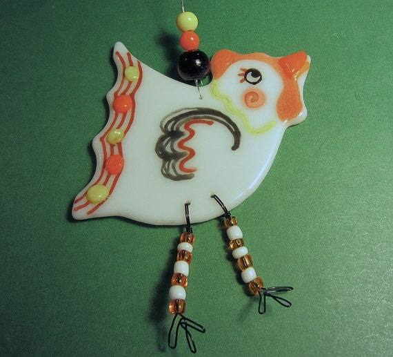 Chicken Glass Ornament