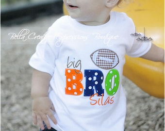 Big Bro (or Lil Bro) Football Appliqued Bodysuit or Shirt