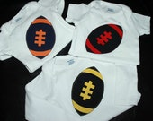 Long Sleeve Football onesie . . personalized with your choice of colors