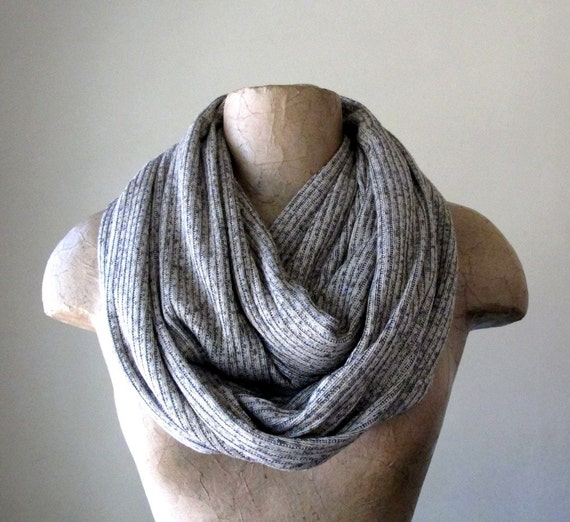 Oatmeal Sweater Scarf - Ribbed Knit Infinity Scarf - Earthy Circle Scarf -  Loop Scarf, Eternity Scarf, Fall Scarf, Winter Scarf