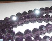 Purple Rondelles (25)  8mm