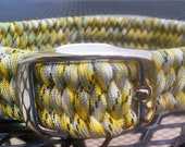 ADJUSTABLE Paracord Dog Collar.  One or Two colors