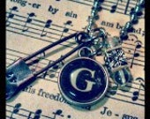 Vintage Inspired Type Key Charm Necklace