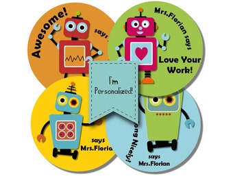 ROBOTS MK2 Personalized stickers for Teachers
