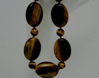 Tiger Eye & 14kt Goldfill Bracelet 143BA