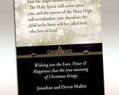 Printable Christmas Card with Scripture (cmdg-102)