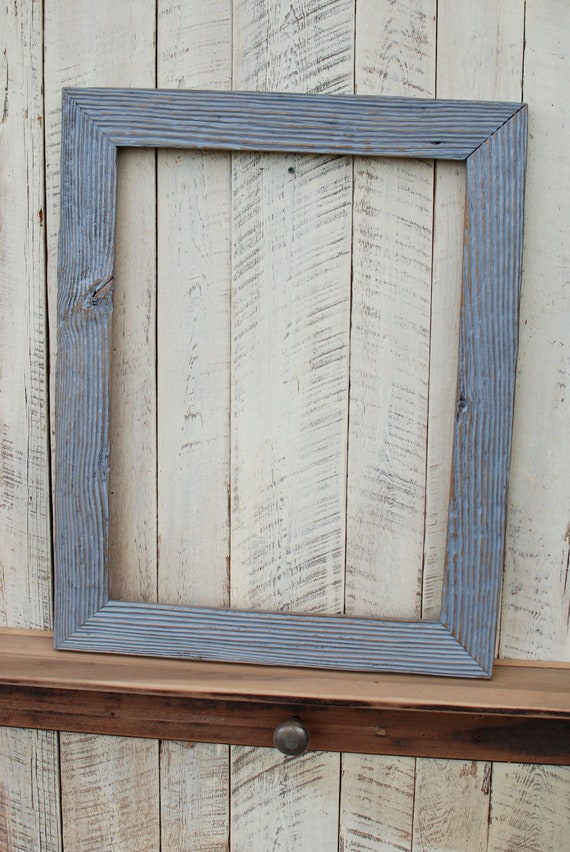 18x24 Grey Driftwood Repurposed Wood Picture Frame By