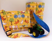Kids Travel Art Case and Messenger Bag - Yellow Farm