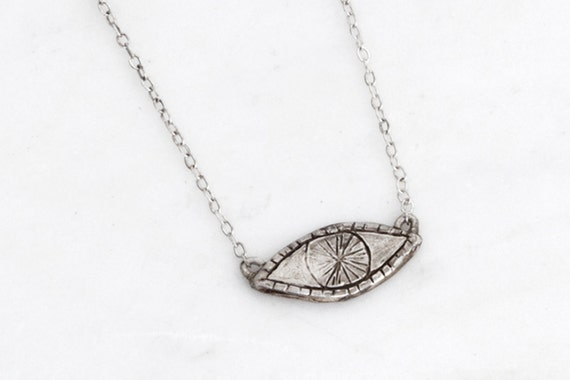 Watchful Eye sterling silver necklace