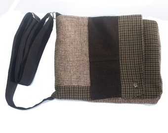 Repurposed Tweed IPad Bag
