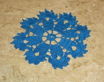 Crochet  Doily Blue