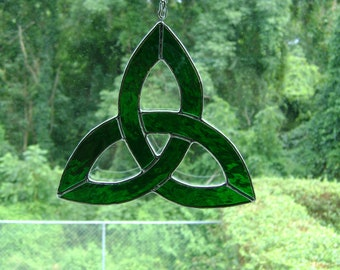 Celtic Trinity Knot Stained Glass